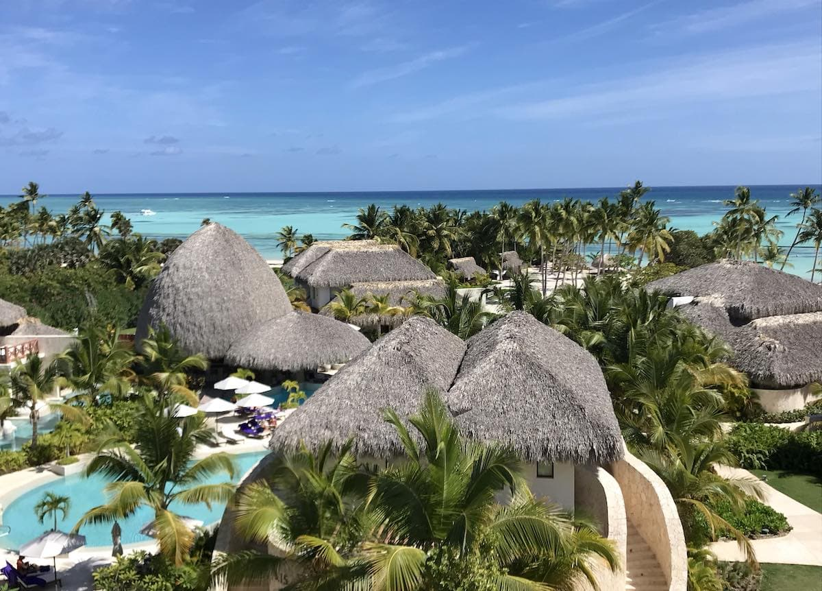 View of Secrets Cap Cana all-inclusive resort in Dominican Republic.