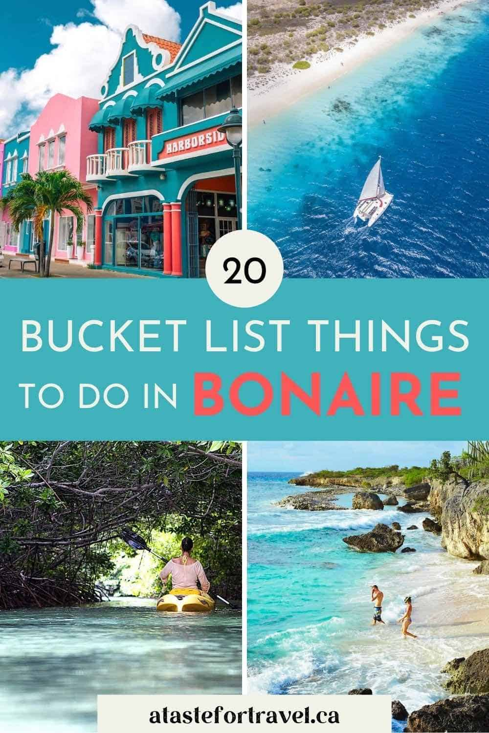 Collage of images of Bonaire for Pinterest.