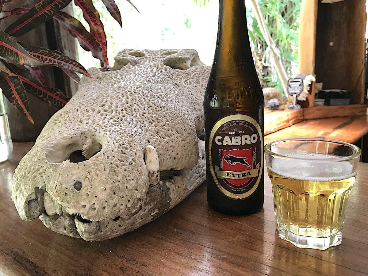 Guatemalan beer in Yaxha, Guatemala.