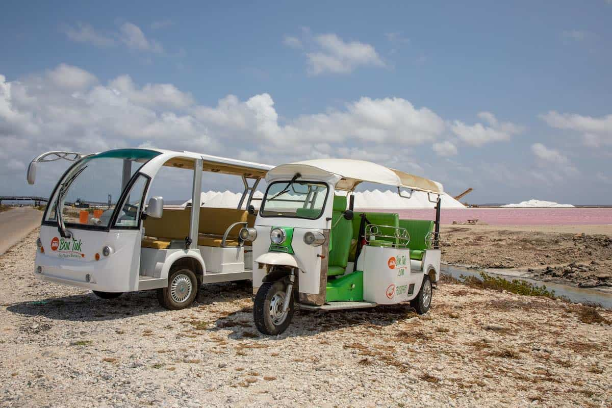 Two tuk tuks in Bonaire.