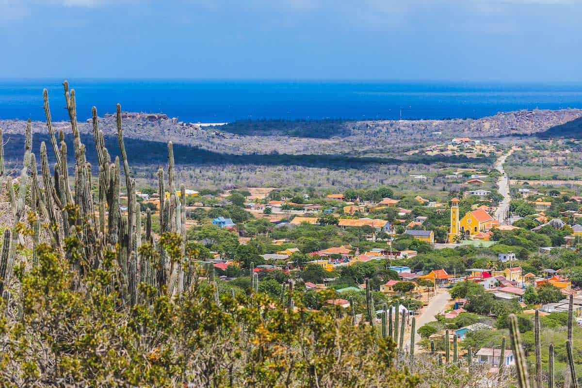 Panoramic view of Rincon, Bonaire.