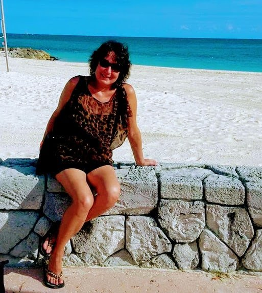 Sue Campbell in the Caribbean