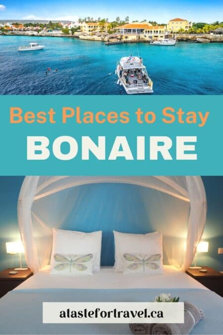 Collage of best hotels on Bonaire.