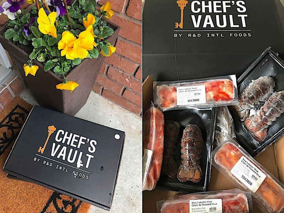 Chef's Vault delivery service boxes.