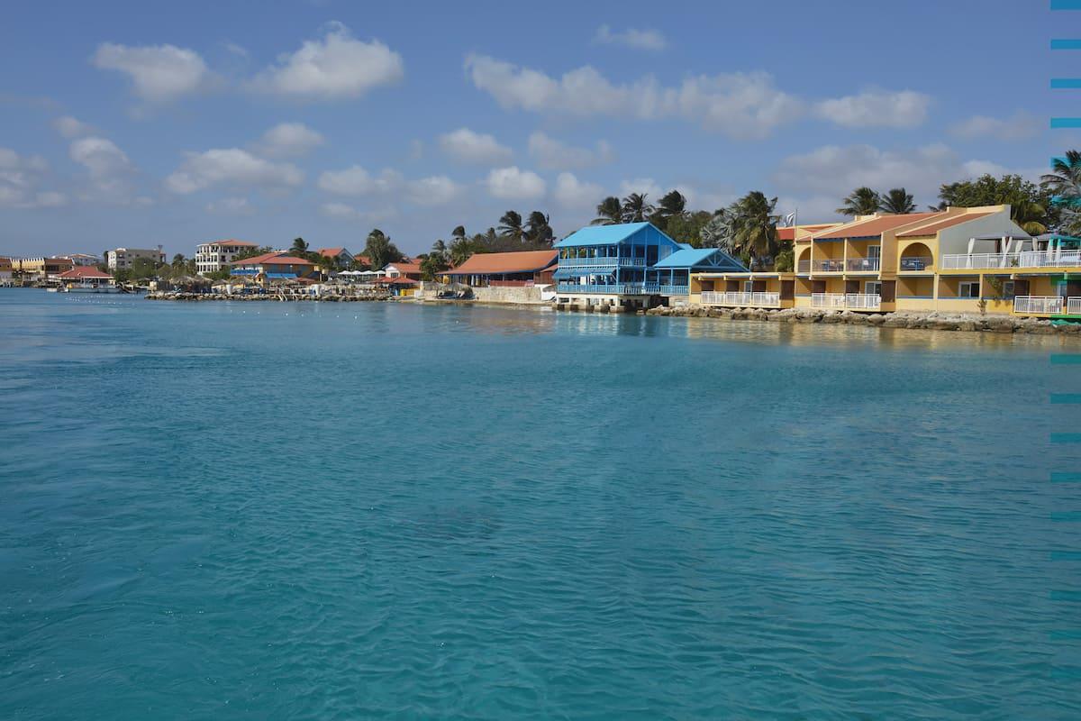 View of Divi Flamingo Beach resort on Bonaire.