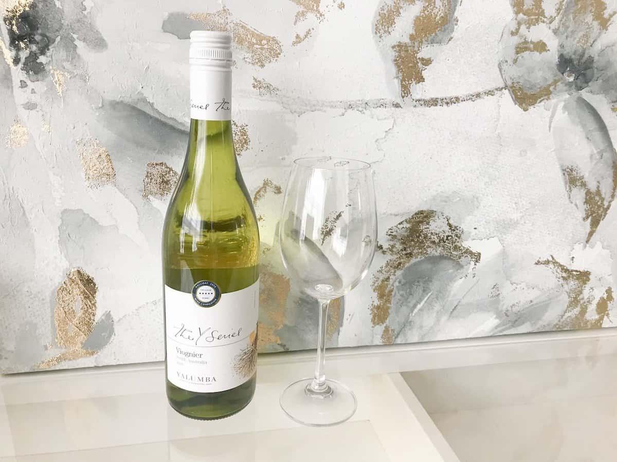 Yalumba Y Series viognier wine with wine glass