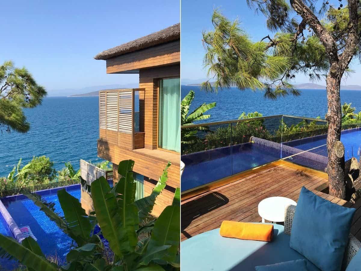 Maldivian style villa at Be Premkium hotel in Bodrum, Turkey.
