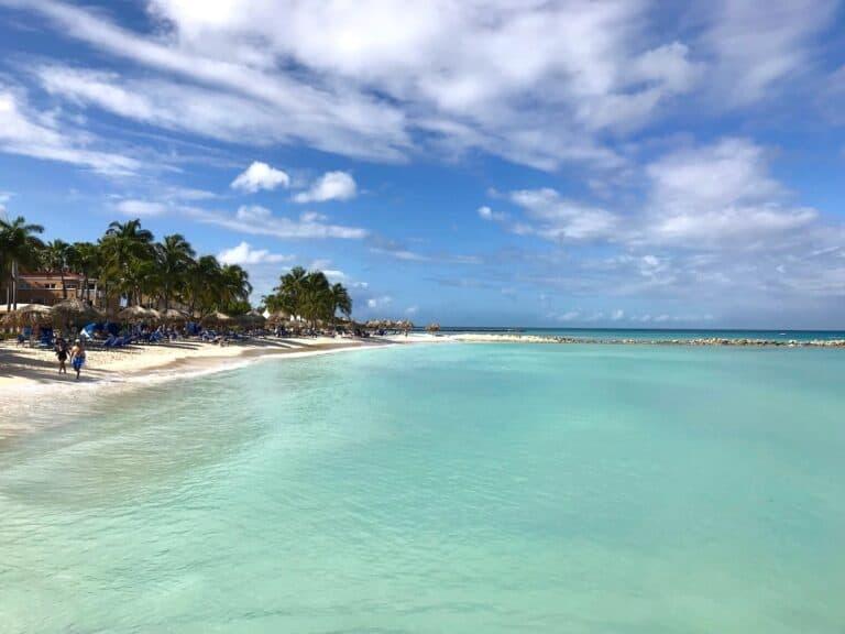 Beautiful beach in Aruba.