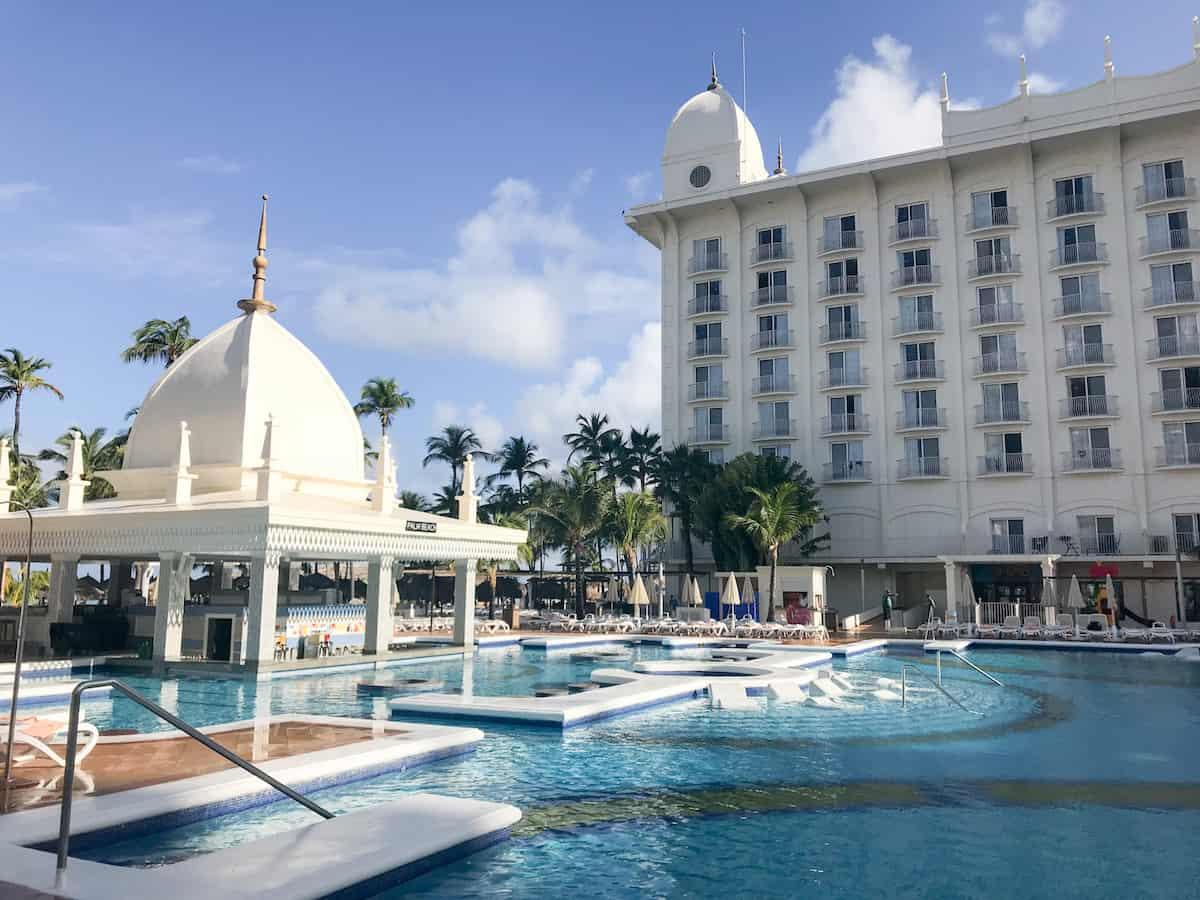 Swimming pool at Riu Palace Aruba Resort.