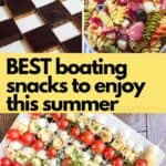 Collage of three ready to eat boat foods.