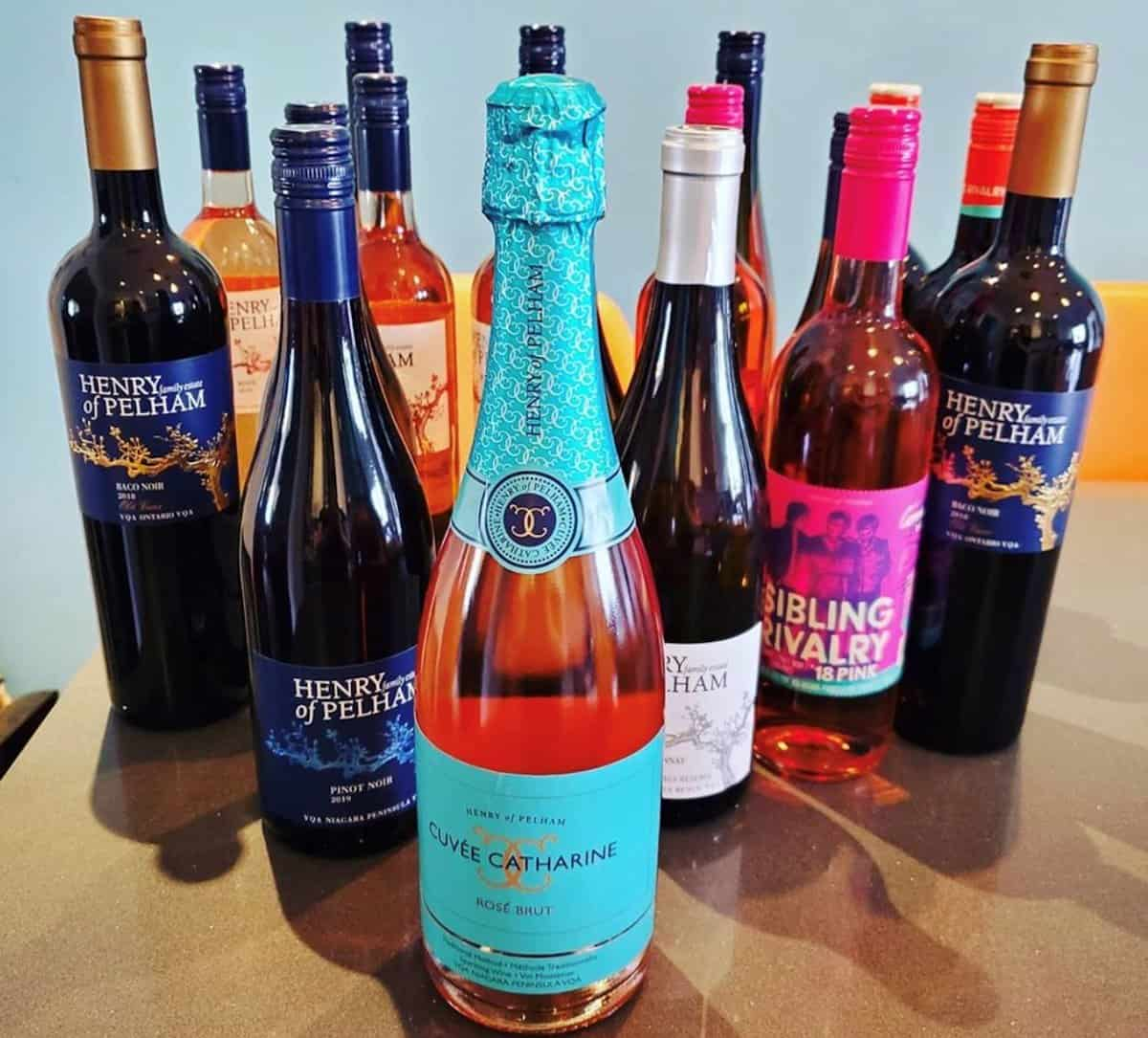 A collection of Henry of Pelham Wines.