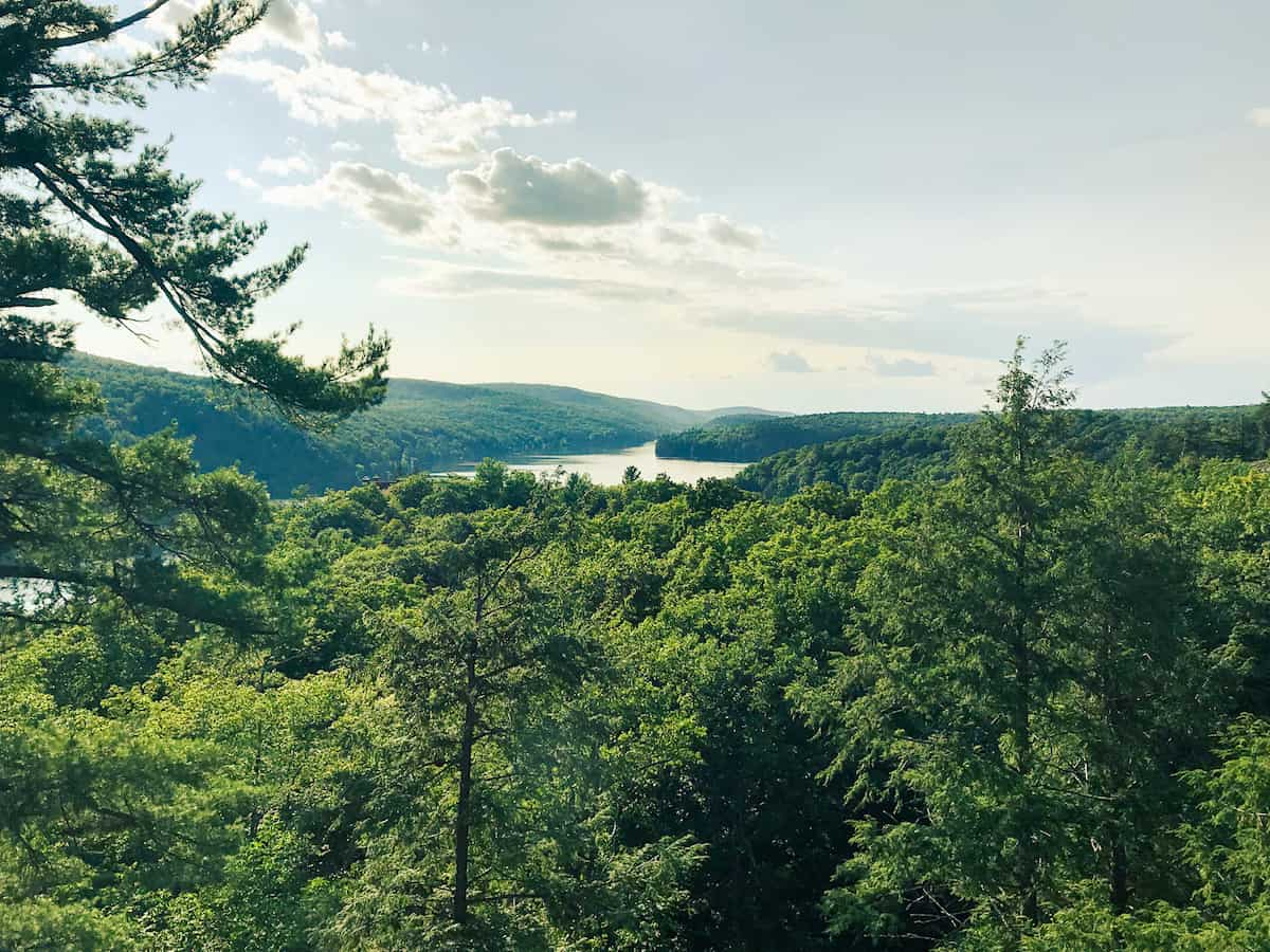 Panoramic view of the Gatineau Hill in Quebec.