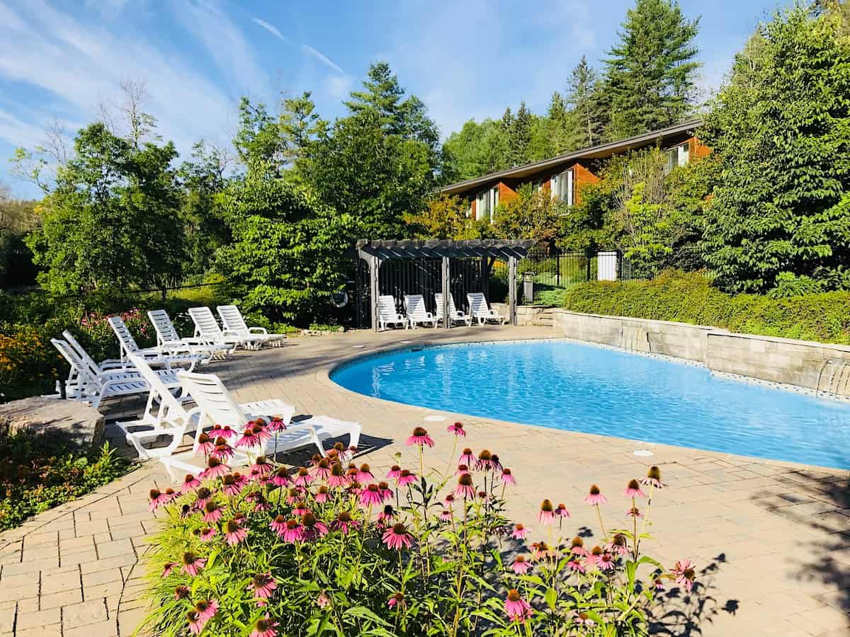 Outdoor pool at Wakefield Mill and Spa.