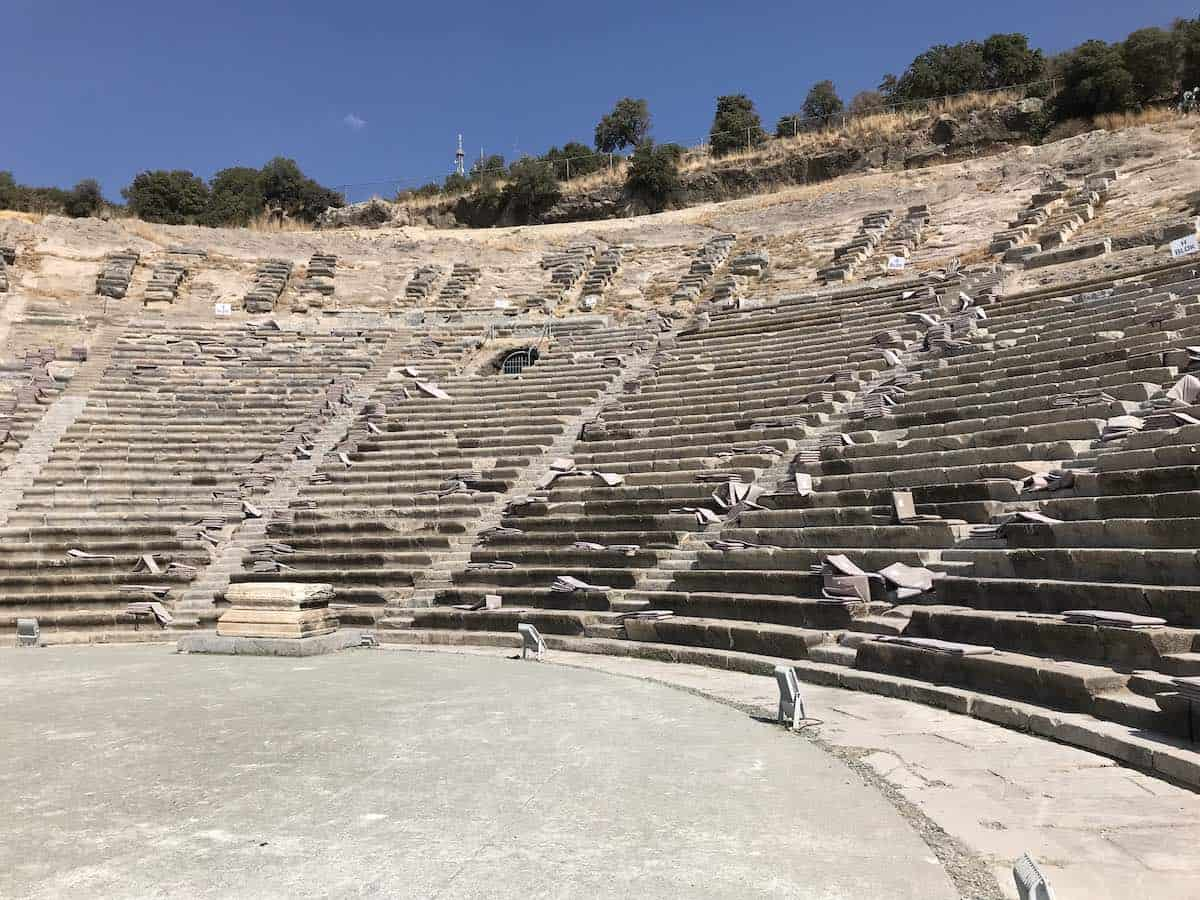 View of the amphitheatre in Bodrum.
