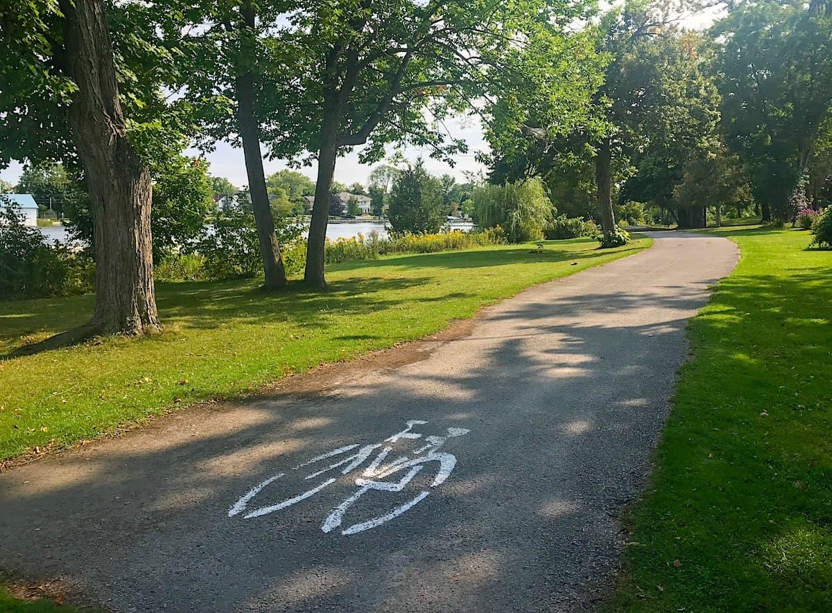 Cycling Trail in Lakefield between Lake Katchewanooka and Otonabee River.
