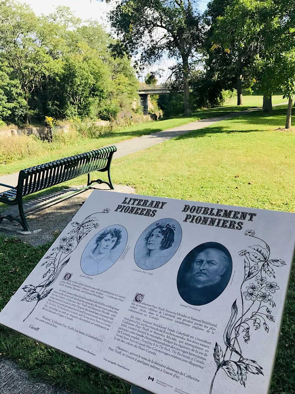 Lakefield Literary pioneers sign.