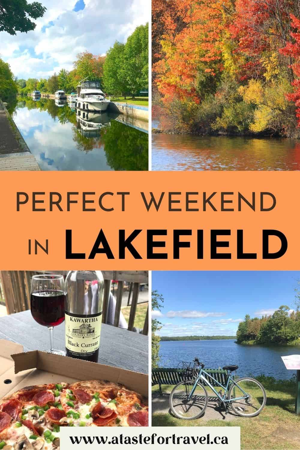 Collage of images of Lakefield for Pinterest.