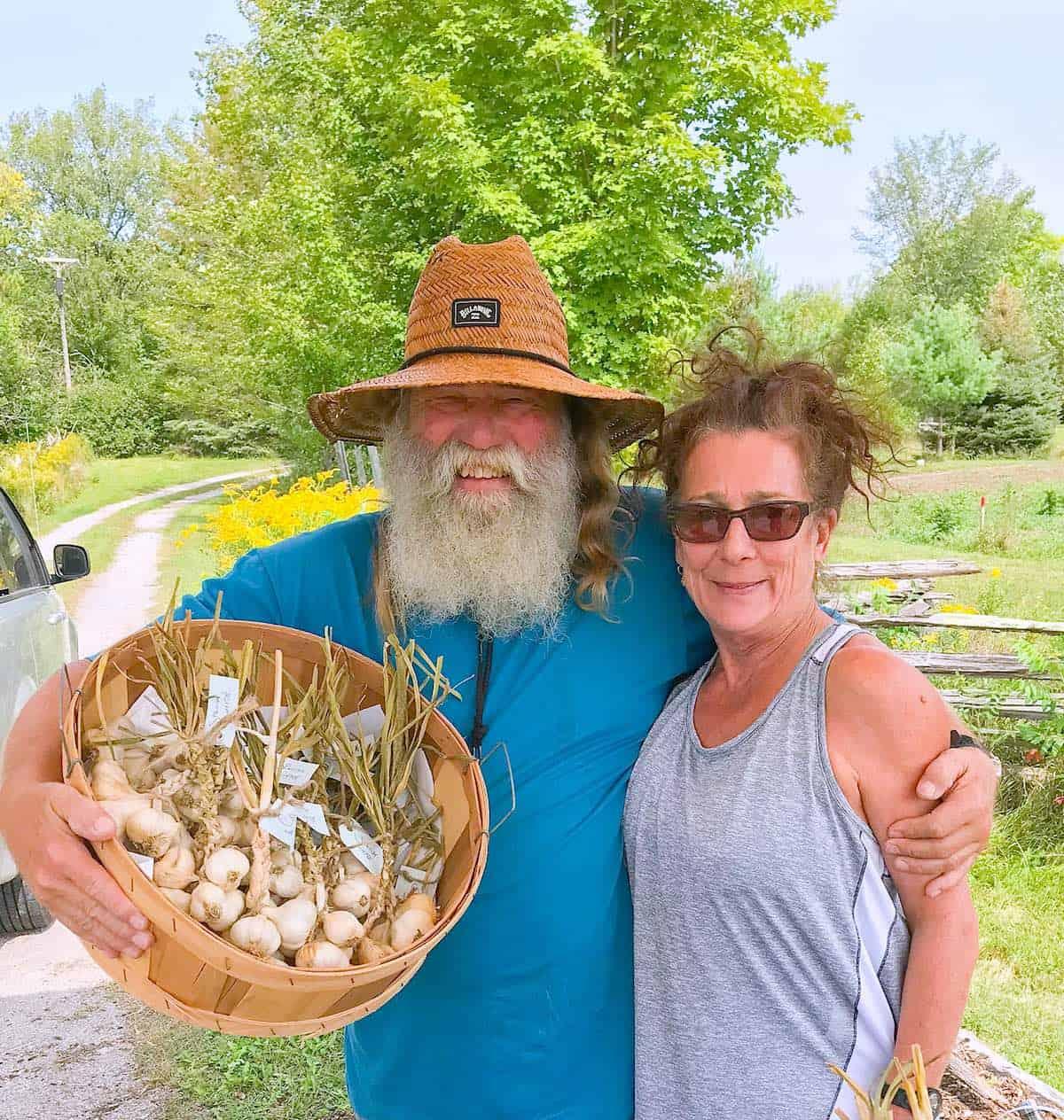 Randall Markewitz and Deborah Hanson of the Organic Garlic Farm Co.