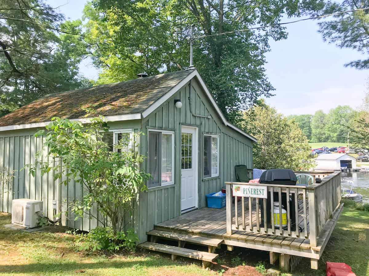 Pinerest cottage at Pine Vista Resort in the Kawarthas.