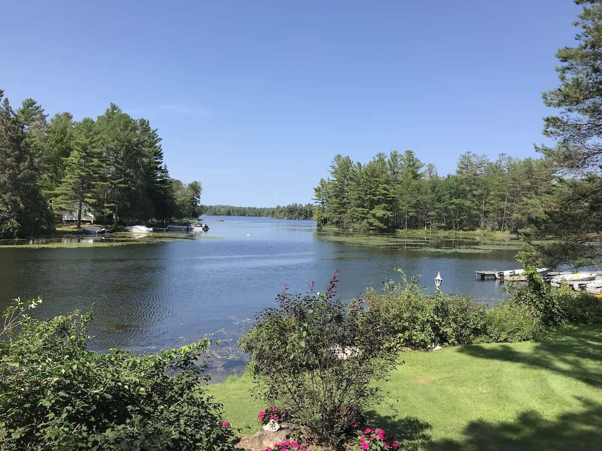 View of Gilchrist Bay on Stoney Lake in the Kawarthas.