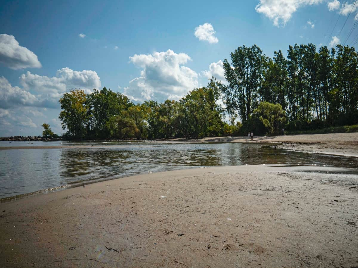 A view of the sandy beach in Burlington.