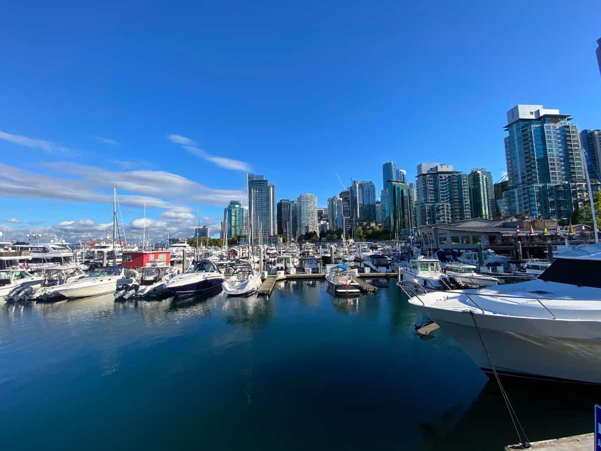 View of the Vancouver Canada harbour.