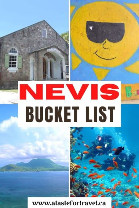 Collage of things to do in Nevis.